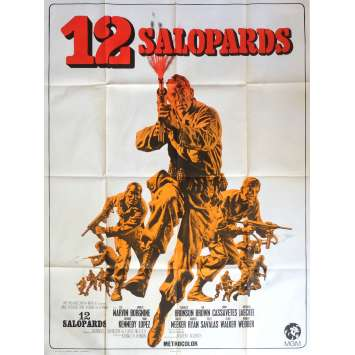 LES 12 SALOPARDS Affiche de film 120x160 - 1967 - Lee Marvin, Robert Aldrich