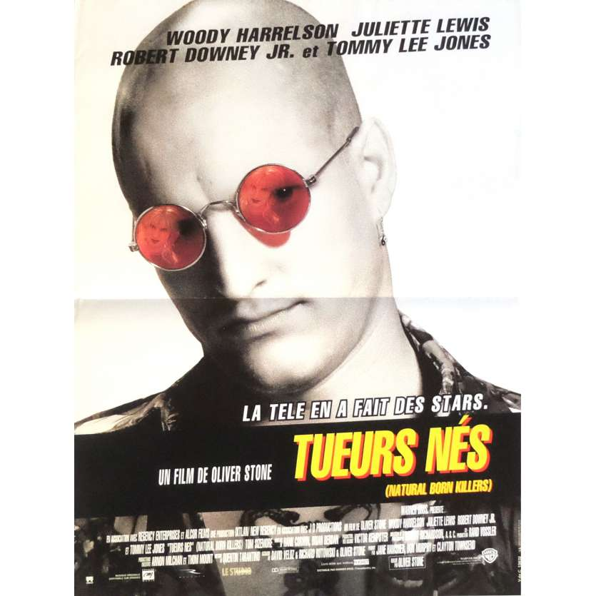 NATURAL BORN KILLERS French Movie Poster 15x21 - 1994 - Oliver Stone, Woody Harrelson