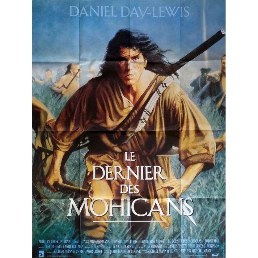 DERNIER DES MOHICANS Affiche 120x160 FR '92 Michael Mann, Daniel Day Lewis Movie Poster