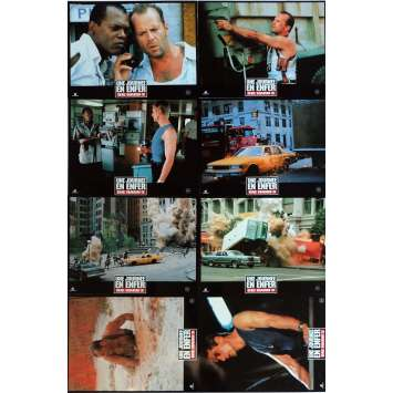 DIE HARD WITH A VENGEANCE Lobby Cards x8 9x12 in. French - 1995 - John McTiernan, Bruce Willis