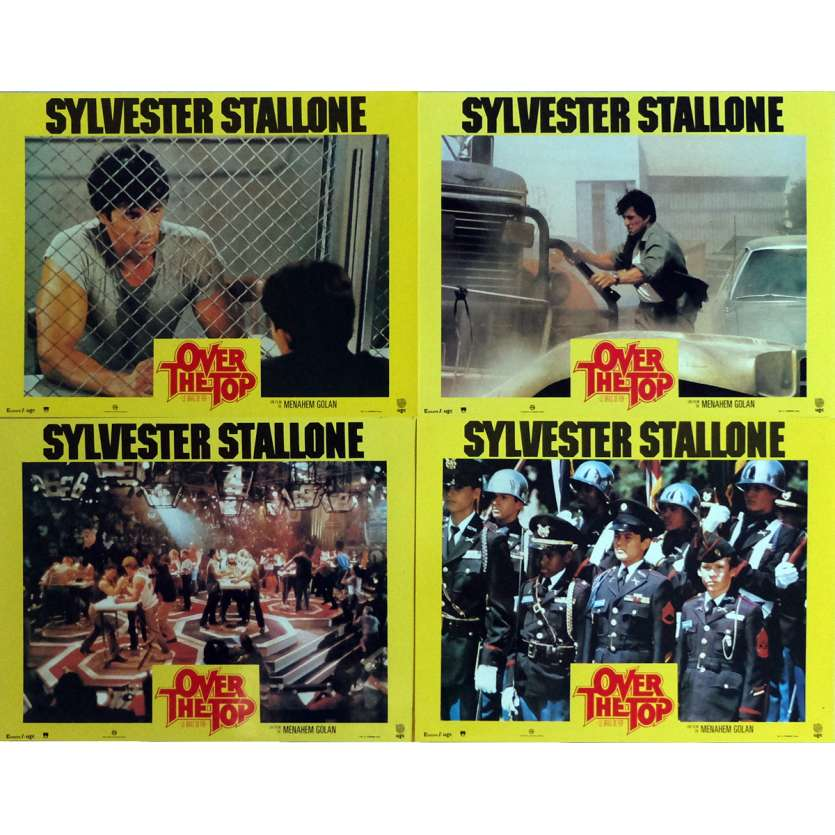 OVER THE TOP Lobby Cards x4 9x12 in. French - 1987 - Menahem Golan, Sylvester Stallone