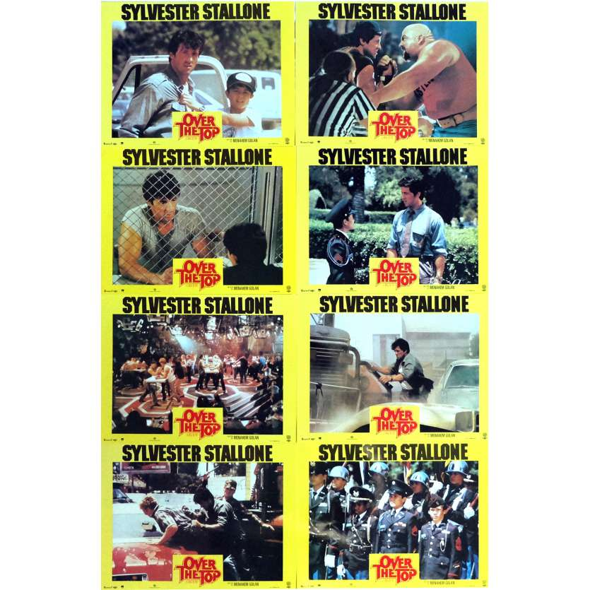 OVER THE TOP Lobby Cards x8 9x12 in. French - 1987 - Menahem Golan, Sylvester Stallone