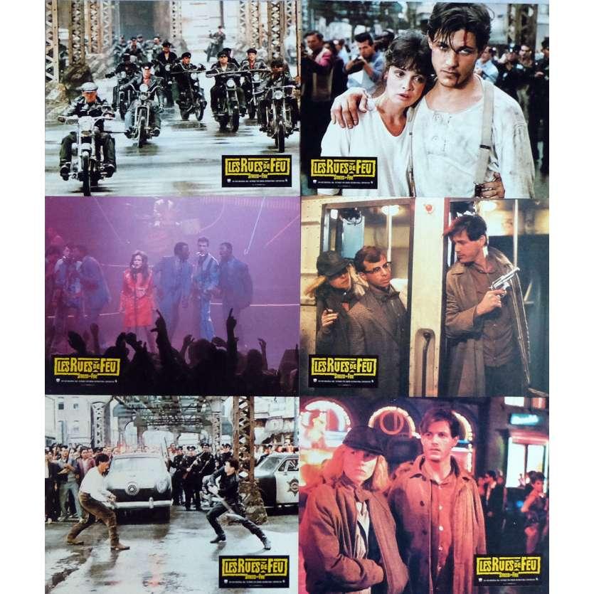 LES RUES DE FEU Photos de film x6 , jeu A 21x30 cm - 1984 - Michael Paré, Walter Hill