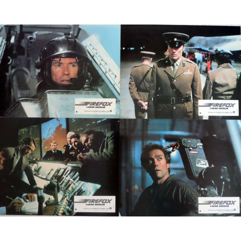 FIREFOX Lobby Cards x4 9x12 in. French - 1982 - Clint Eastwood, Clint Eastwood