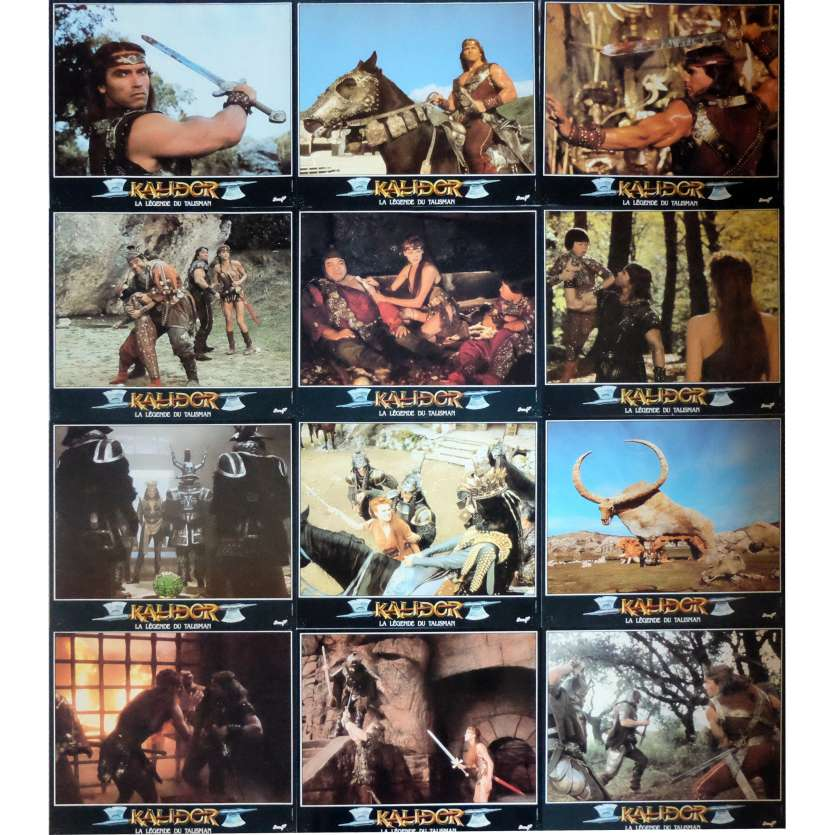 KALIDOR Lobby Cards x12 9,5x12 in. French - 1985 - Richard Fleisher, Arnold Schwarzenegger