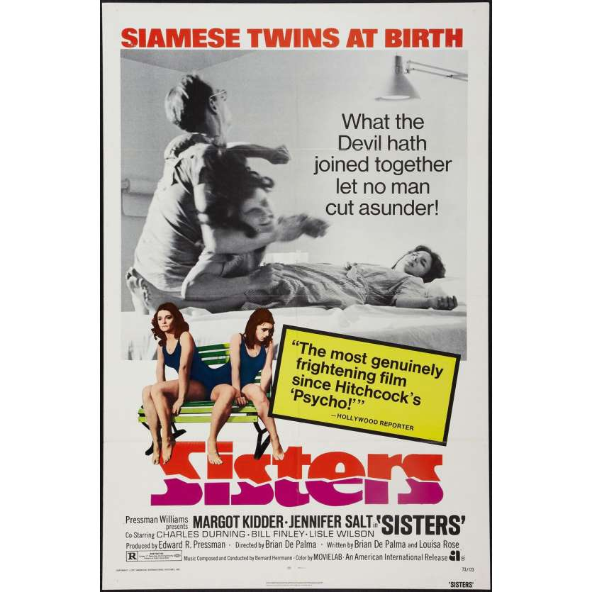 "SISTERS Brian de Palma Margot Kidder Poster One Sheet (27"" X 41"")"