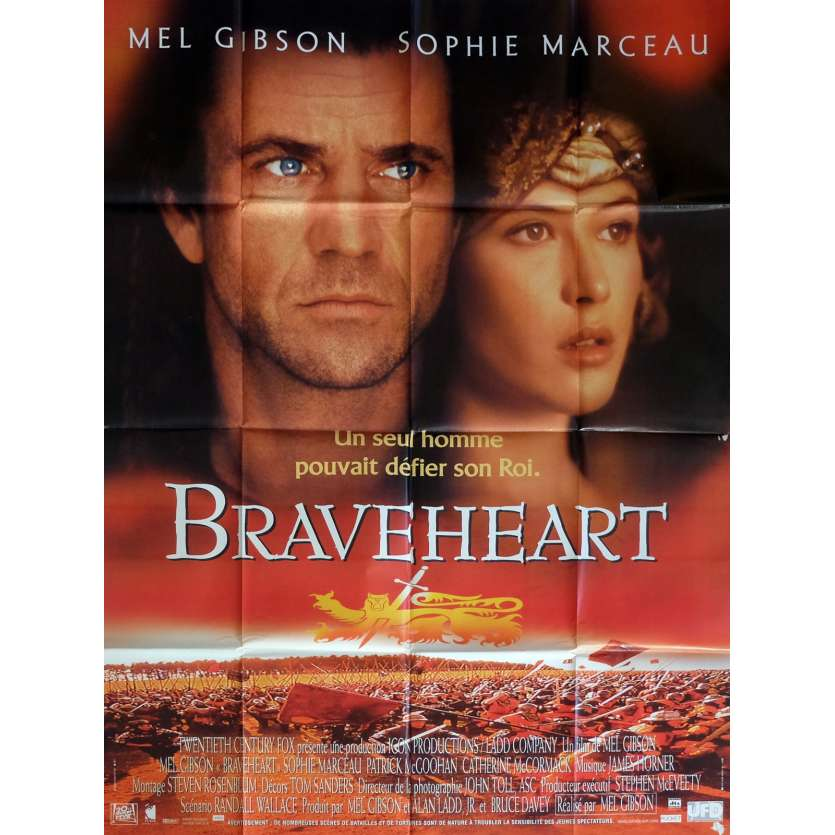 BRAVEHEART Movie Poster 47x63 in. French - 1995 - Mel Gibson, Patrick McGoohan