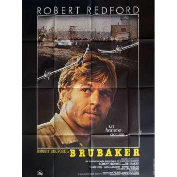 BRUBAKER Affiche de film Ferracci 120x160 cm - 1980 - Robert Redford, Stuart Rosenberg