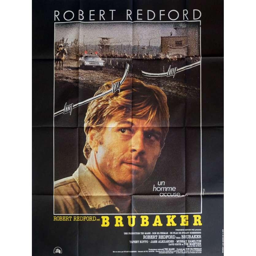 BRUBAKER Movie Poster Ferracci 47x63 in. French - 1980 - Stuart Rosenberg, Robert Redford