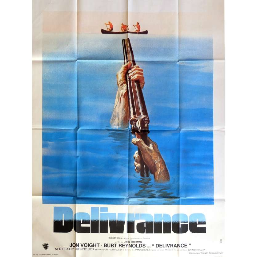 DELIVERANCE Movie Poster 47x63 in. French - 1972 - John Boorman, Burt Reynolds