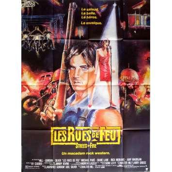 LES RUES DE FEU Affiche de film 120x160 cm - 1984 - Michael Paré, Walter Hill