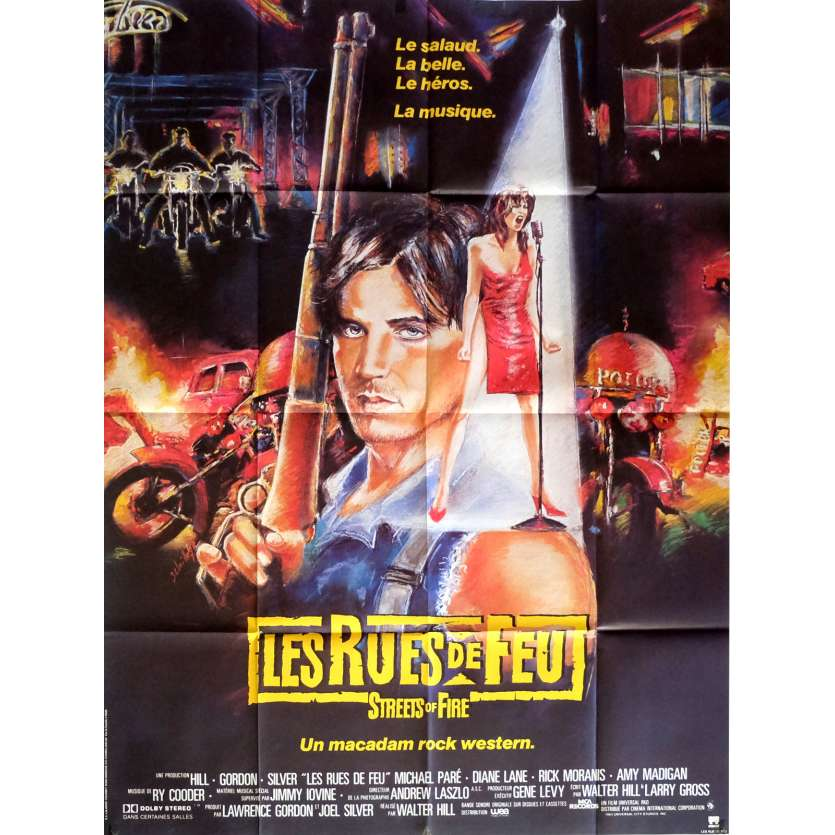 THE STREETS OF FIRE Movie Poster 47x63 in. French - 1984 - Walter Hill, Michael Paré