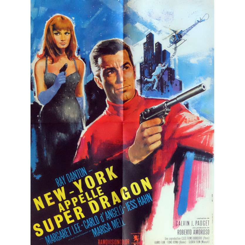 SECRET AGENT SUPER DRAGON Movie Poster 23x32 in. French - 1966 - Giorgio Ferroni, Ray Danton