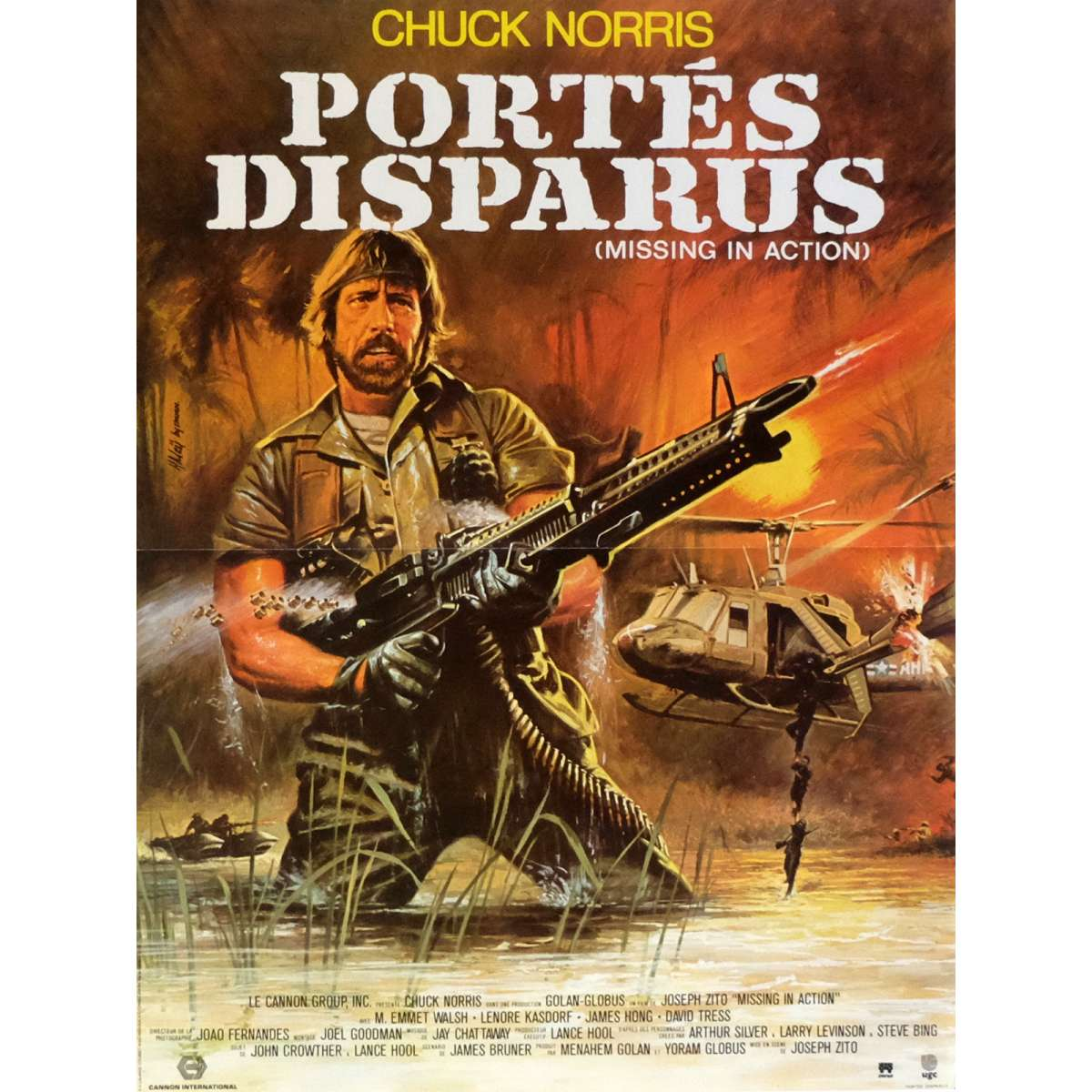 MISSING IN ACTION Movie Poster 15x21 In. French   1984   Joseph Zito, Chuck  Missing In Action Poster