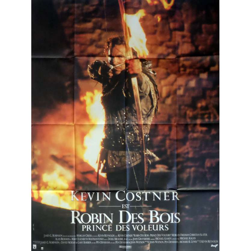 ROBIN HOOD Movie Poster 47x63 in. French - 1991 - Kevin Reynolds, Kevin Costner