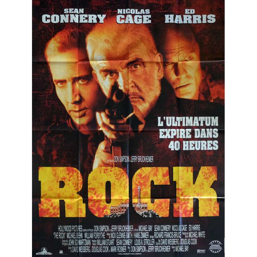 ROCK Movie Poster 47x63 in. French - 1996 - Michael Bay, Sean Connery