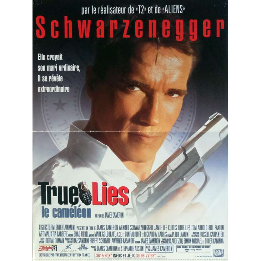TRUE LIES Movie Poster 15x21 in. French - 1994 - James Cameron, Arnold Schwarzenegger