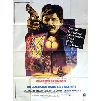 DEATH WISH II Movie Poster 47x63 in. French - 1982 - Michael Winner, Charles Bronson