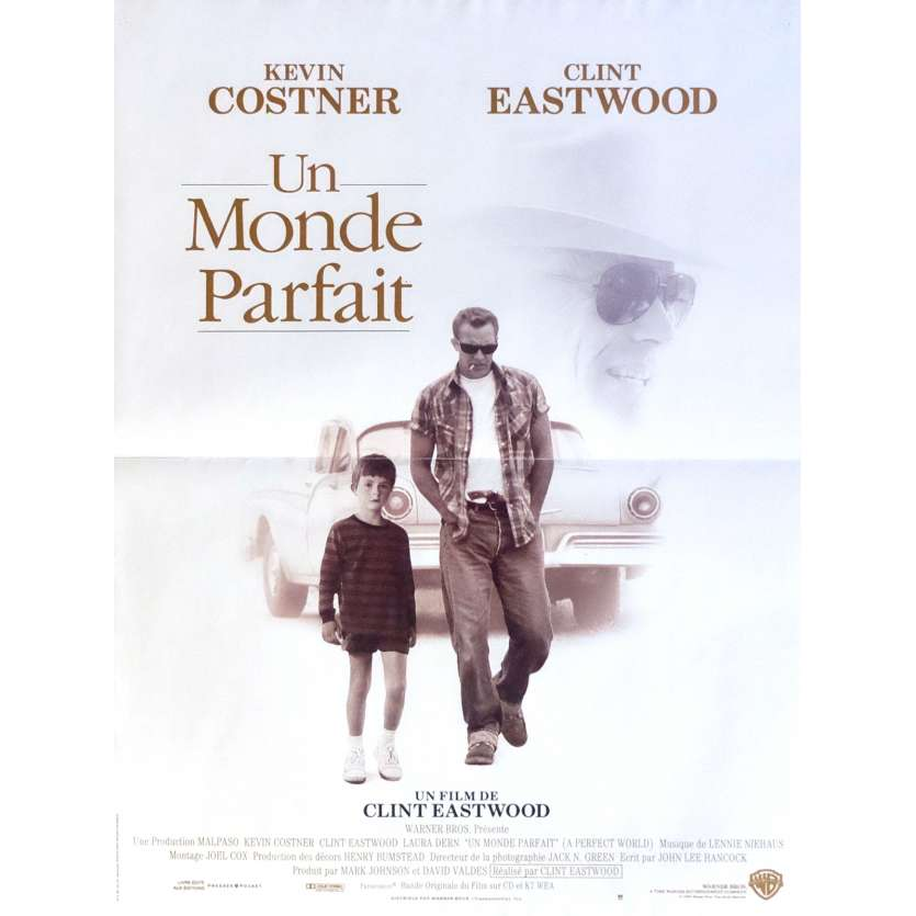 A PERFECT WORLD Movie Poster 15x21 in. French - 1993 - Clint Eastwood, Kevin Costner