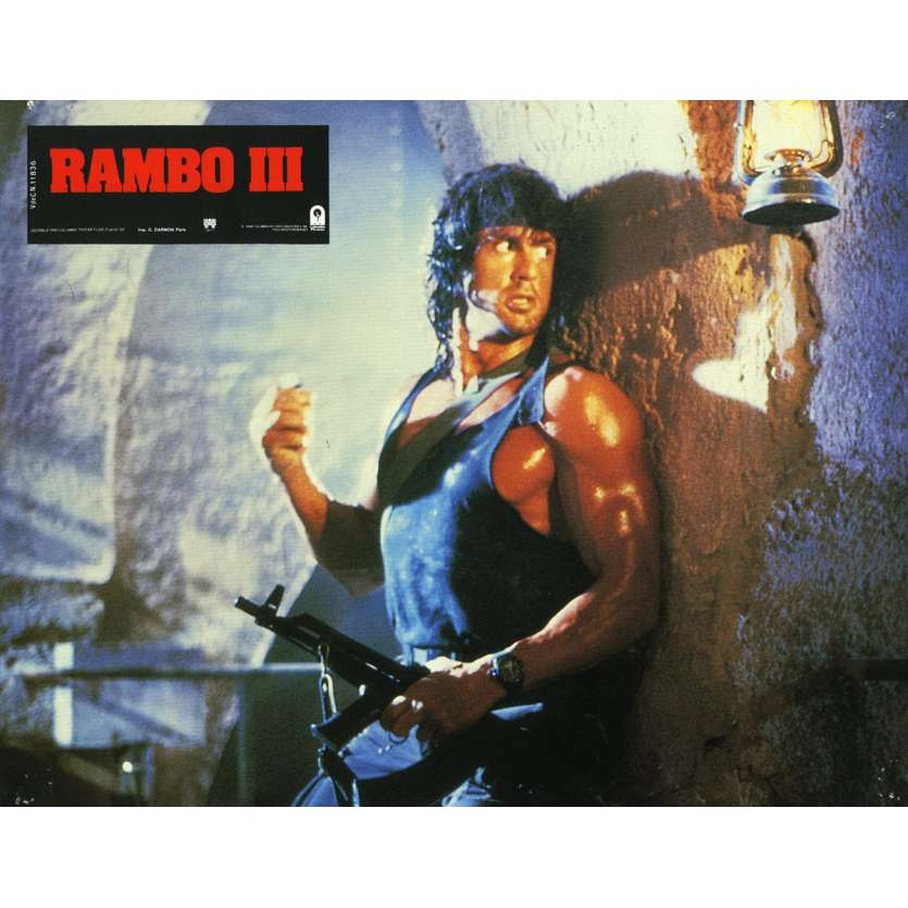 RAMBO 3 Lobby Card N17 9x12 in. French - 1988 - Sylvester Stallone, Richard Crenna