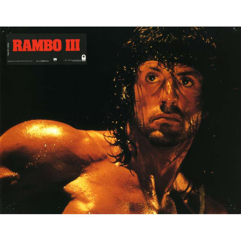 RAMBO 3 Lobby Card N16 9x12 in. French - 1988 - Sylvester Stallone, Richard Crenna