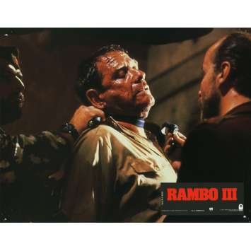 RAMBO 3 Lobby Card N13 9x12 in. French - 1988 - Sylvester Stallone, Richard Crenna