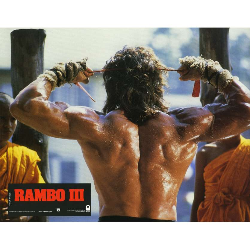 RAMBO 3 Lobby Card N10 9x12 in. French - 1988 - Sylvester Stallone, Richard Crenna