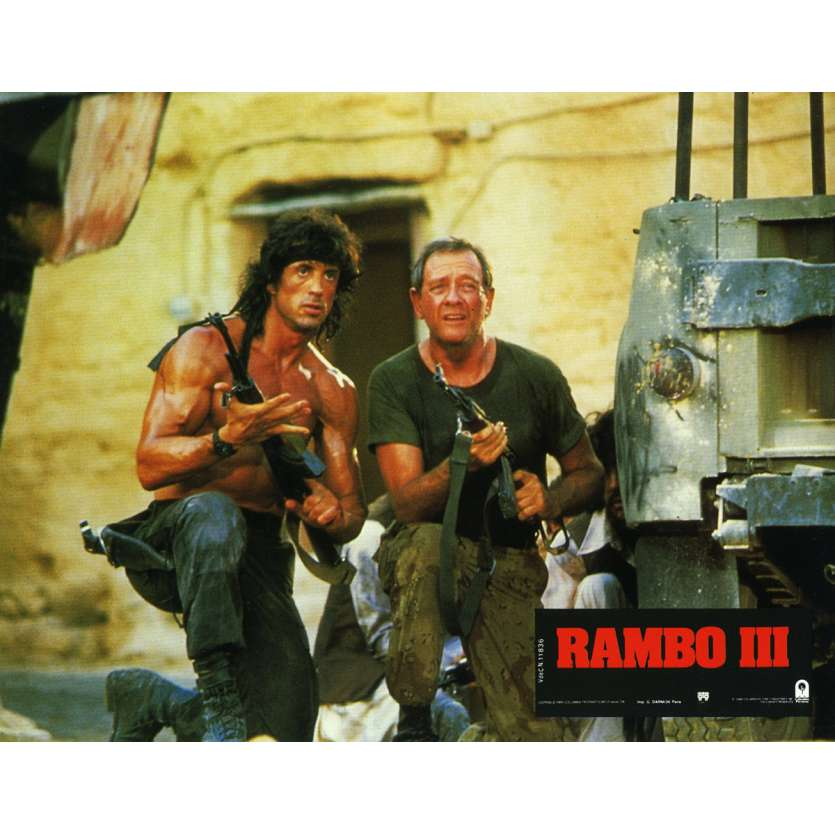 RAMBO 3 Lobby Card N9 9x12 in. French - 1988 - Sylvester Stallone, Richard Crenna