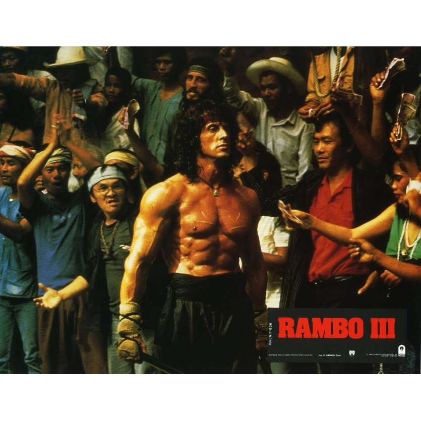 RAMBO 3 Lobby Card N6 9x12 in. French - 1988 - Sylvester Stallone, Richard Crenna