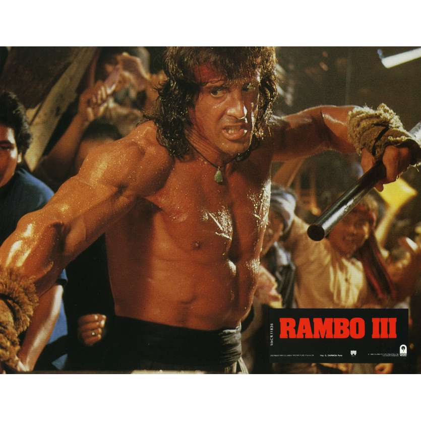 RAMBO 3 Lobby Card N5 9x12 in. French - 1988 - Sylvester Stallone, Richard Crenna