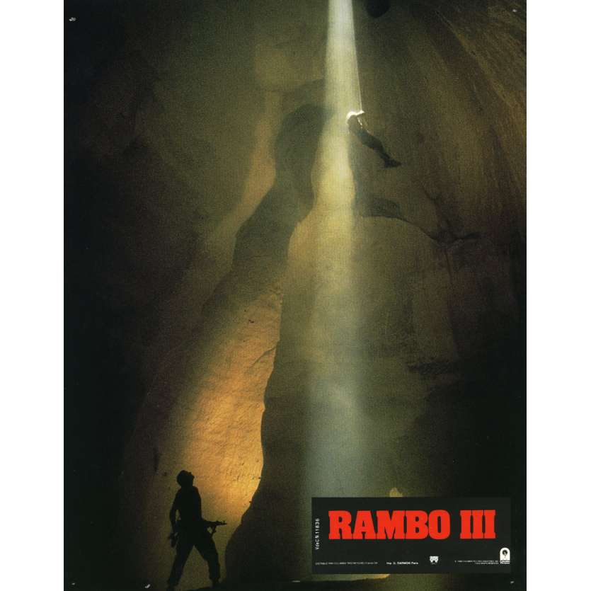 RAMBO 3 Lobby Card N4 9x12 in. French - 1988 - Sylvester Stallone, Richard Crenna