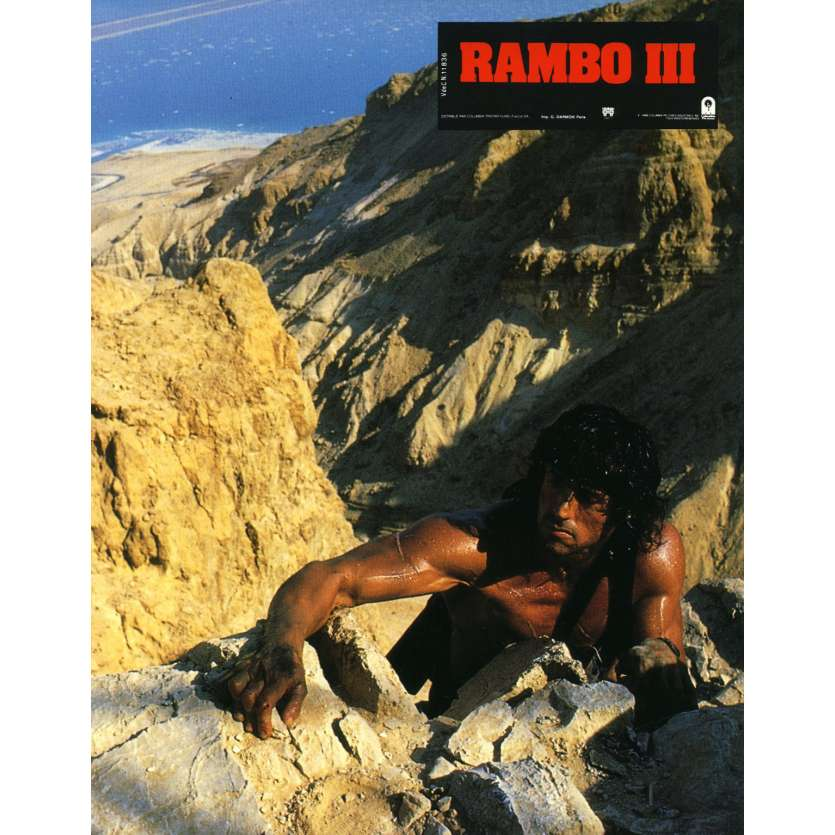 RAMBO 3 Lobby Card N3 9x12 in. French - 1988 - Sylvester Stallone, Richard Crenna