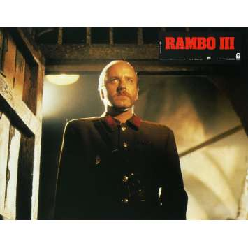 RAMBO 3 Lobby Card N2 9x12 in. French - 1988 - Sylvester Stallone, Richard Crenna