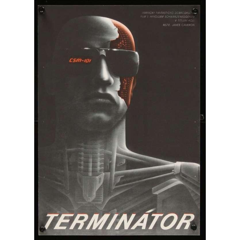 TERMINATOR James Cameron Affiche du film CZ 1984 Super Rare !