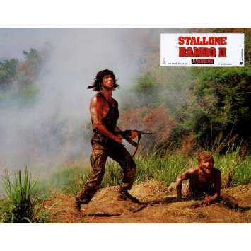 RAMBO FIRST BLOOD PART II Lobby Card N11 9x12 in. French - 1985 - George P. Cosmatos, Sylvester Stallone