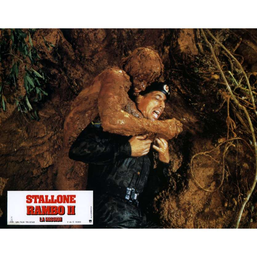 RAMBO II Photo de film N7 21x30 cm - 1985 - Sylvester Stallone, George P. Cosmatos