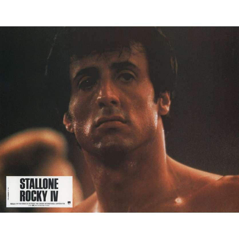 ROCKY 4 Lobby Card N9 9x12 in. French - 1985 - Sylvester Stallone, Dolph Lundgren