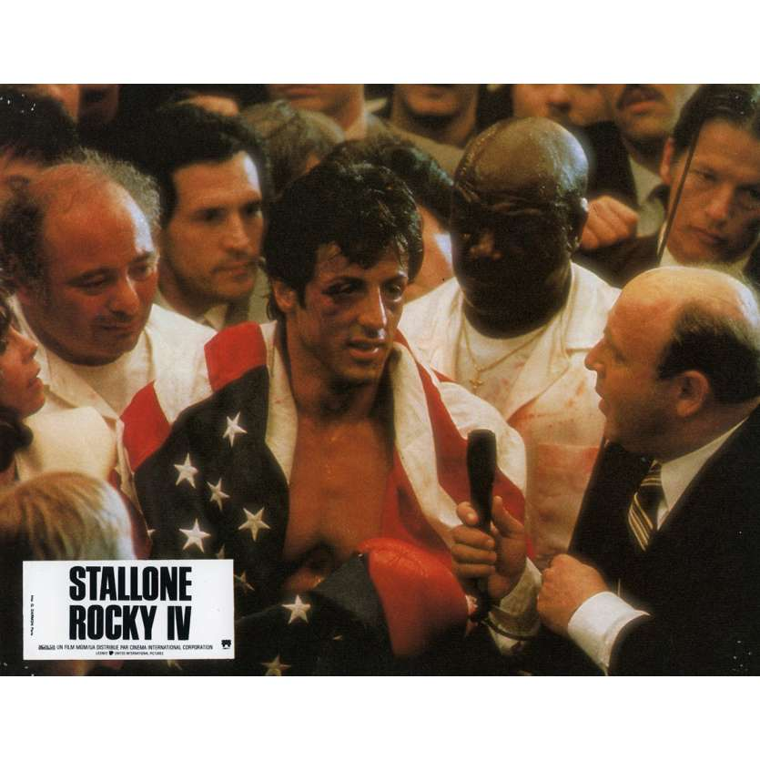 ROCKY 4 Lobby Card N3 9x12 in. French - 1985 - Sylvester Stallone, Dolph Lundgren