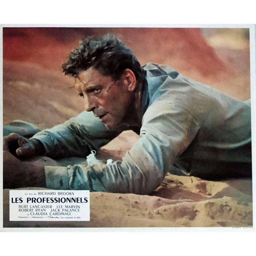 THE PROFESSIONALS Lobby Card N1 9x12 in. French - 1966 - Richard Brooks, Burt Lancaster
