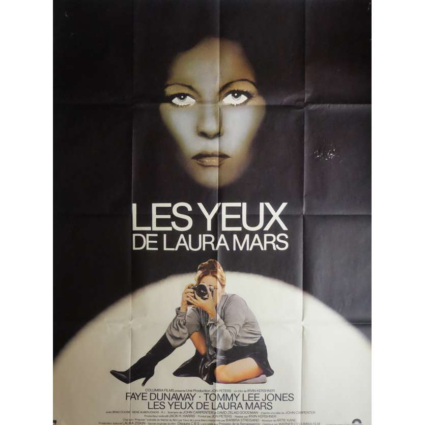 THE EYES OF LAURA MARS Movie Poster 47x63 in. French - 1978 - Irvin Keshner, Faye Dunaway