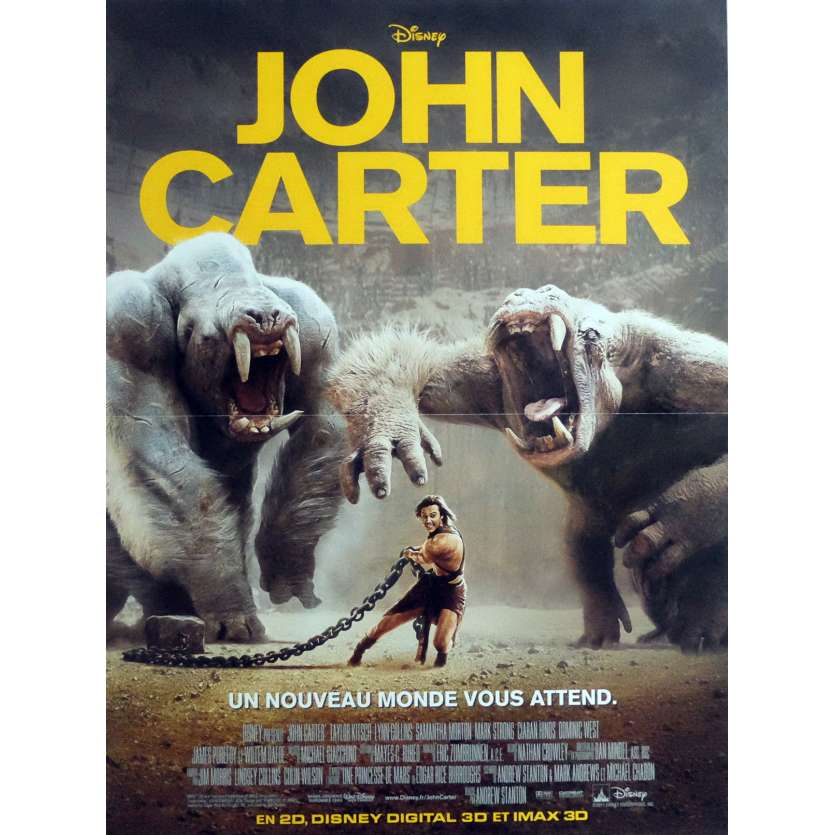 JOHN CARTER Movie Poster 15x21 in. French - 2012 - Andrew Stanton, Taylor Kitsch
