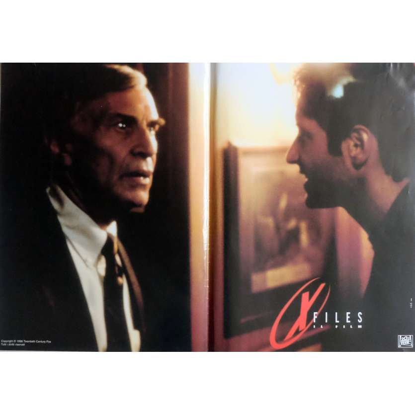 X-FILES Photobusta Poster N3 15x21 in. Italian - 1998 - Rob Bowman, David Duchovny