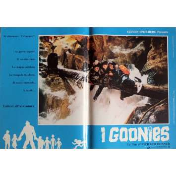 THE GOONIES Photobusta Poster N4 15x21 in. Italian - 1985 - Richard Donner, Sean Astin
