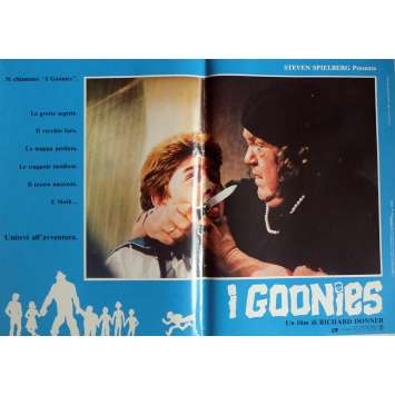 THE GOONIES Photobusta Poster N3 15x21 in. Italian - 1985 - Richard Donner, Sean Astin