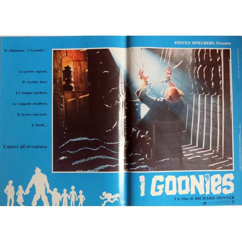 THE GOONIES Photobusta Poster N2 15x21 in. Italian - 1985 - Richard Donner, Sean Astin