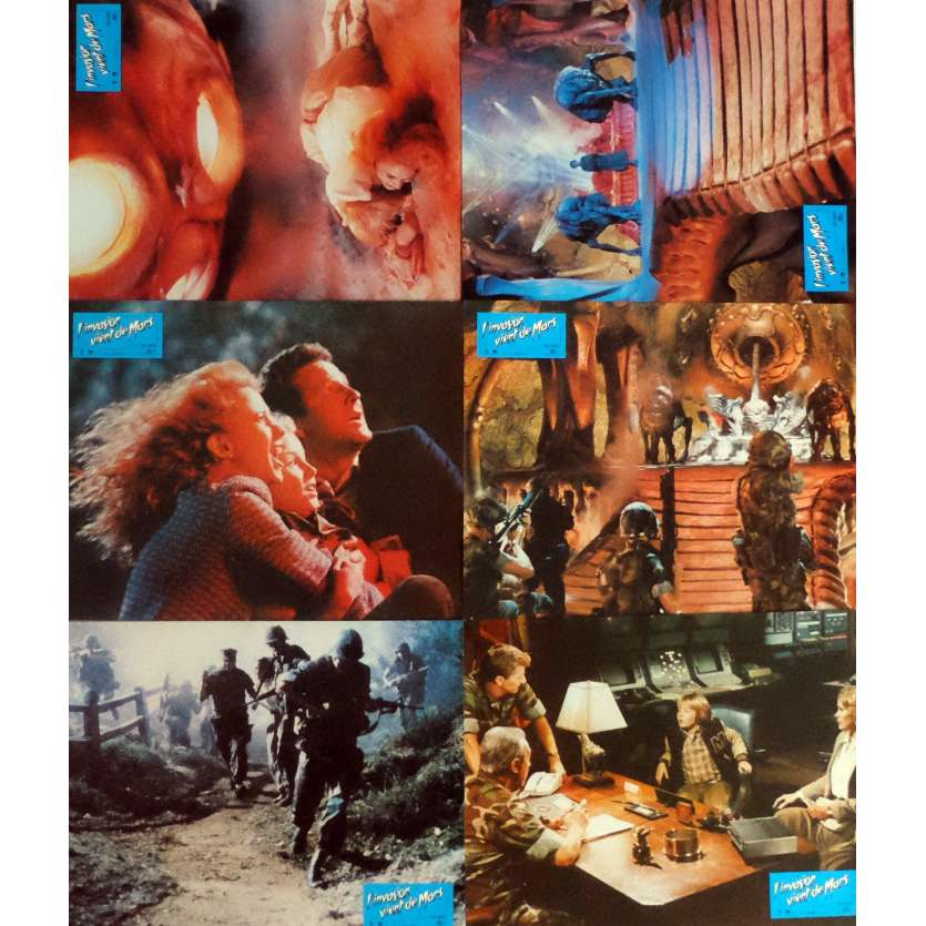 INVADERS FROM MARS Lobby Cards x6 9x12 in. French - 1986 - Tobe Hooper, Karen Black