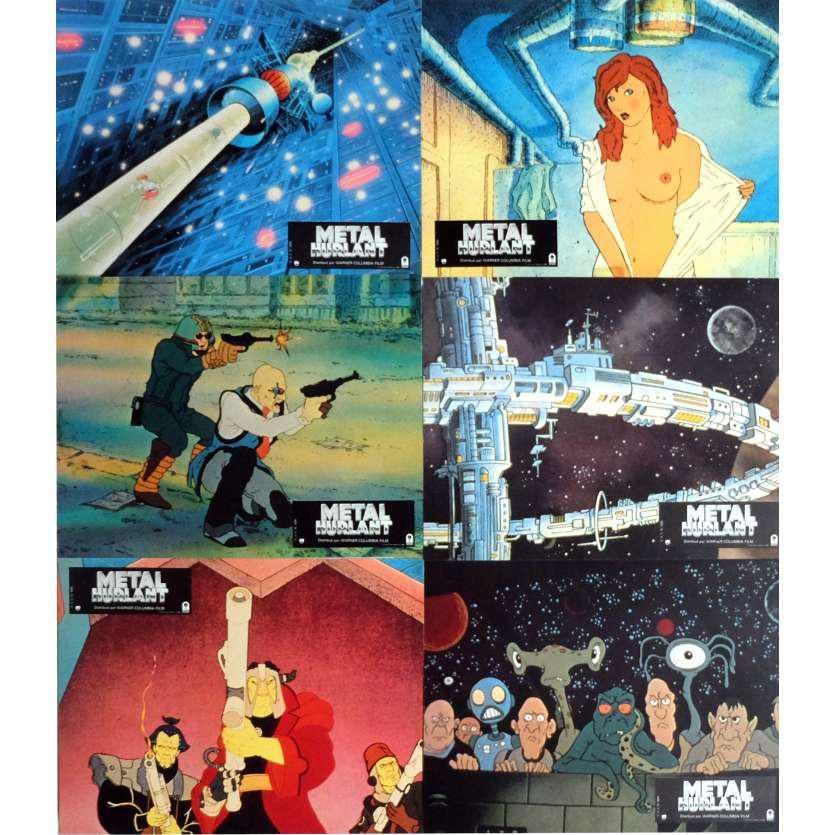 METAL HURLANT Photos de film x6 21x30 cm - 1981 - John Candy, Gerald Potterton