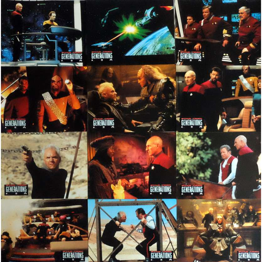 STAR TREK: GENERATIONS Photos de film x12 21x30 cm - 1994 - Patrick Stewart, David Carson