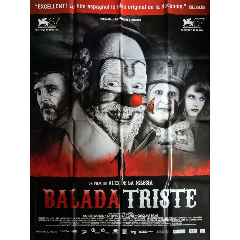 THE LAST CIRCUS Movie Poster 47x63 in. French - 2010 - Alex de la Iglesia, Carlos Areces