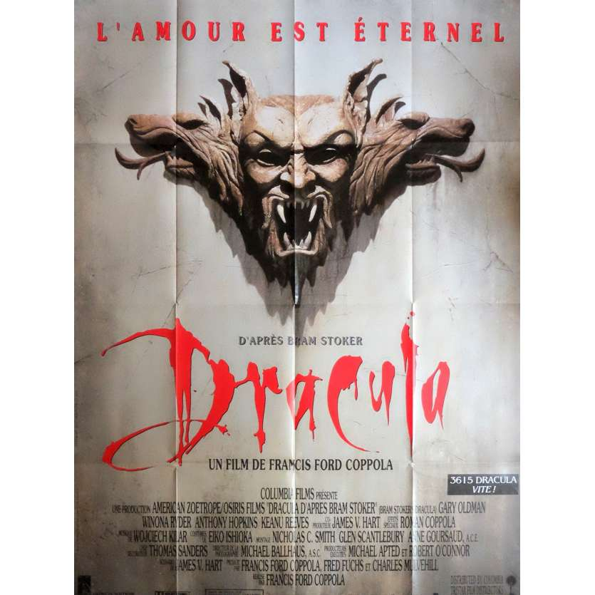 dracula affiche de film 120x160 1992 coppola gary oldman winona ryder. Black Bedroom Furniture Sets. Home Design Ideas